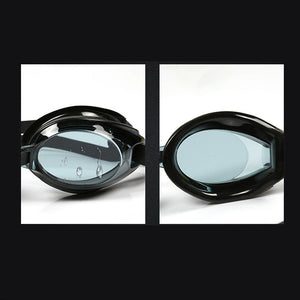 Black Adjustable Silicone Waterproof Swimming Goggles for Children and Adults