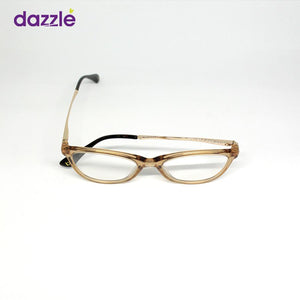 Transparent Female Cat-eye Glasses - Champagne Gold -