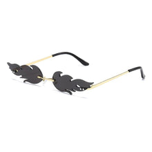 Load image into Gallery viewer, Trendy Retro Luxury Fire Flame Sunglasses - Black & Gold -