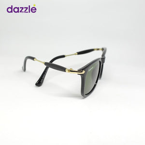Unisex Box Fashion Sunglasses - Black and Gold - Sunglasses