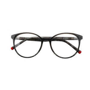 Unisex Dapper Acetate Stock Frame Glasses - Grey & Red