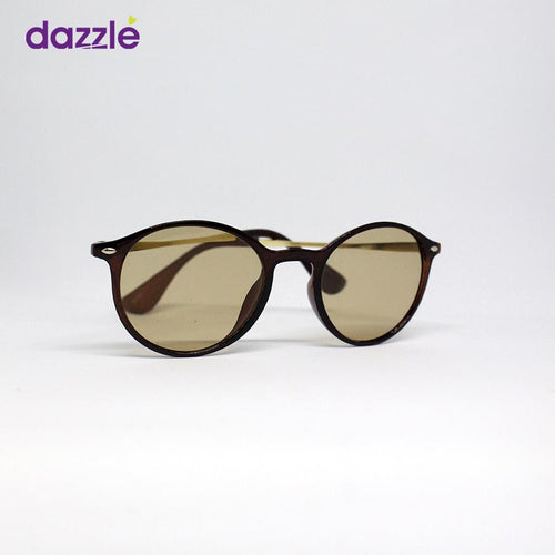 Unisex Dapper Fashion Sunglasses - Brown and Gold -