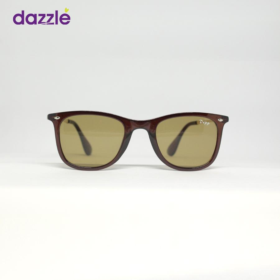 Unisex Fashion Sunglasses - Brown and Gold - Sunglasses