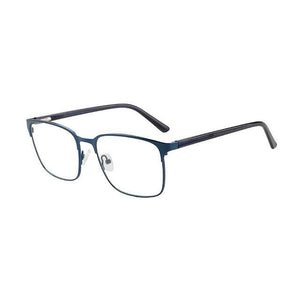 Unisex Metal Stock Frame Glasses Modern Design - Blue