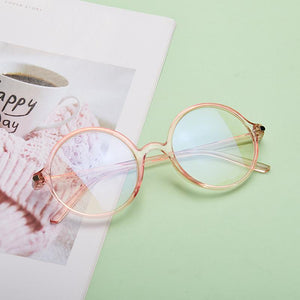 Unisex Transparent Round Anti Blue Light Computer Eyeglasses