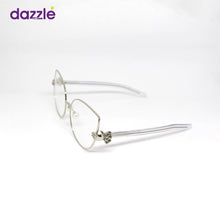 Load image into Gallery viewer, Women Girls Trendy Vogue Silver Fashion Cat Eye Metal