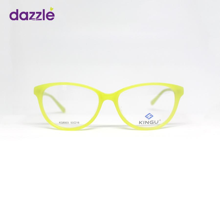 Women's Lemon Yellow Cat Eye Acetate Stock Eyeglasses -