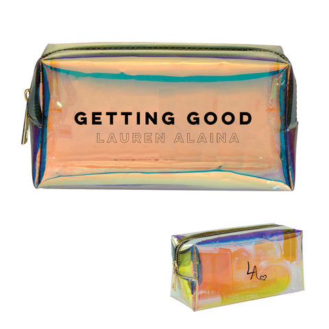 Getting Good Iridescent Makeup Bag