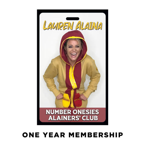 Number Onesies Fan Club Membership