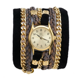 BLACK SUEDE URBAN LITTLE WRAP WATCH