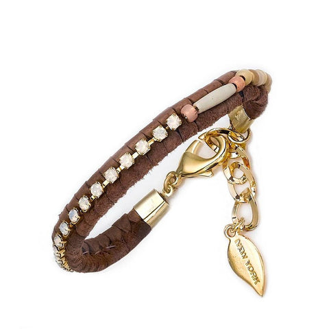 POM FUN BRACELET - BROWN