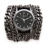 All Chain Black Wrap Watch Sara Designs