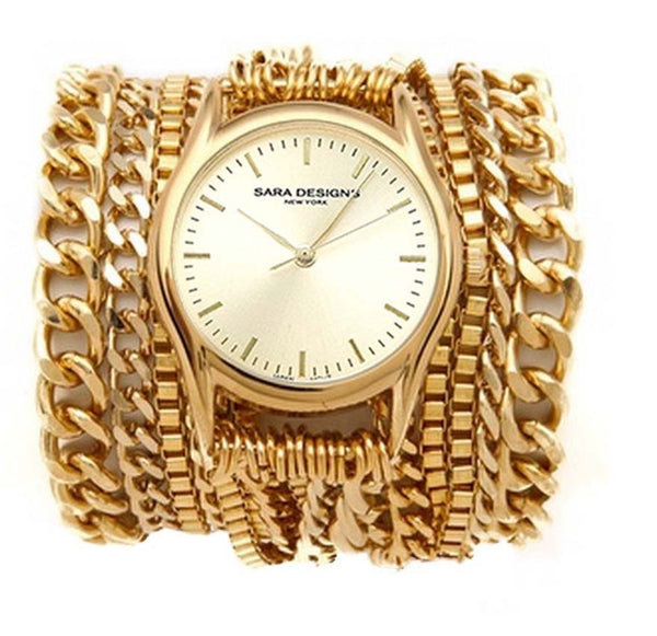 All Chain Gold Wrap Watch Sara Designs