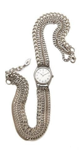 All Chain Silver Wrap Watch Handmade Sara Designs