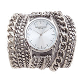 All Chain Silver Wrap Watch Sara Designs