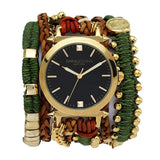 Army Macrame Wrap Watch Black Sara Designs