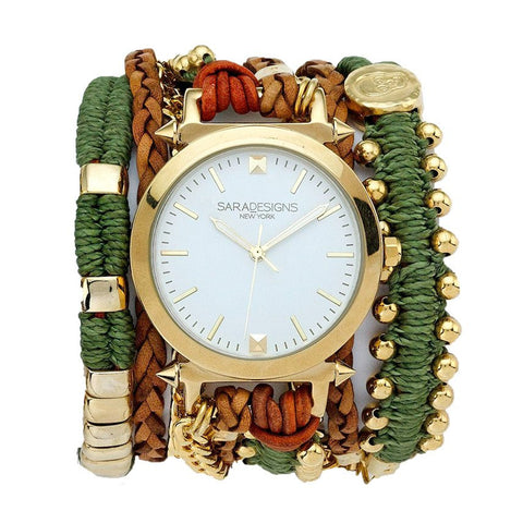 BLUE MACRAME WRAP WATCH