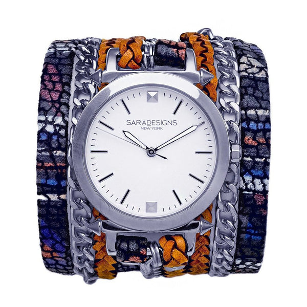 Astral Urban Spike Wrap Watch Silver Sara Designs