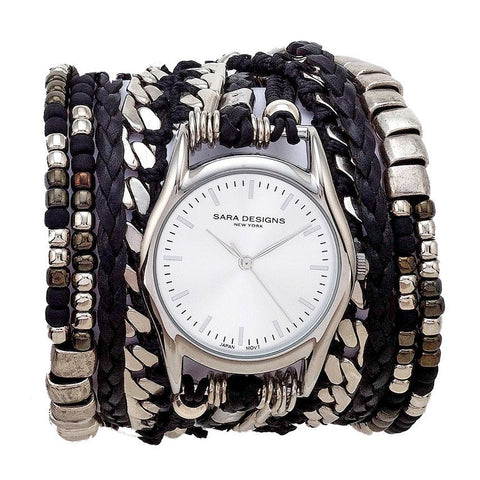 ALL CHAIN BLACK WRAP WATCH