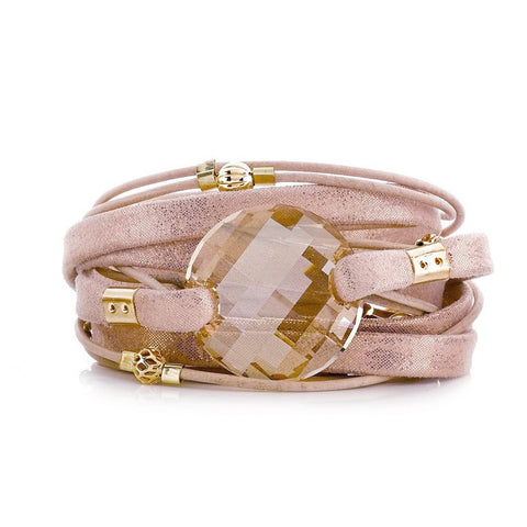 LIDIA CHOKER-BLUSH/ROSE GOLD