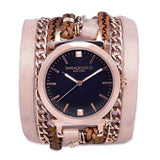 Blush Urban Spike Wrap Watch Rose Gold Sara Designs