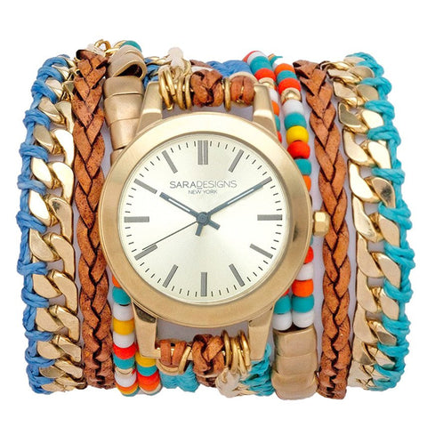 VIVIAN SILVER WRAP WATCH