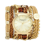 Camel Macrame Wrap Watch Yellow Sara Designs