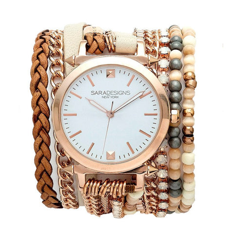 LUCID URBAN ROUND WRAP WATCH- ROSE GOLD