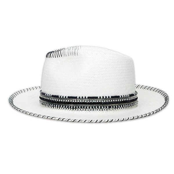 Carmen White Fedora Hat Collection