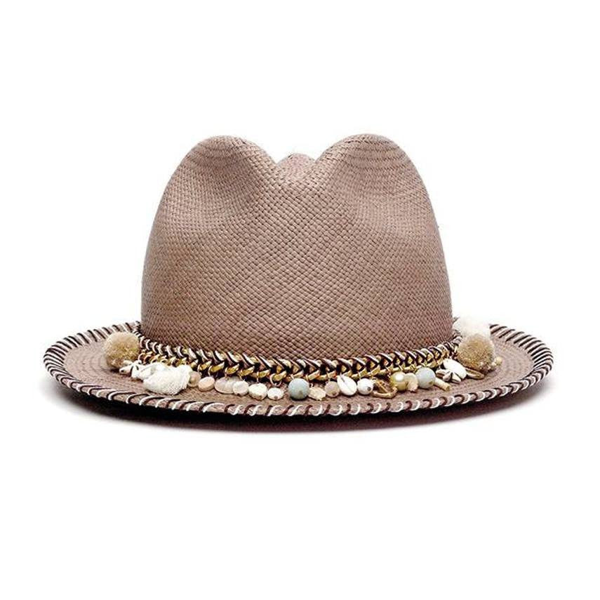 Concha Taupe Diamond Hat