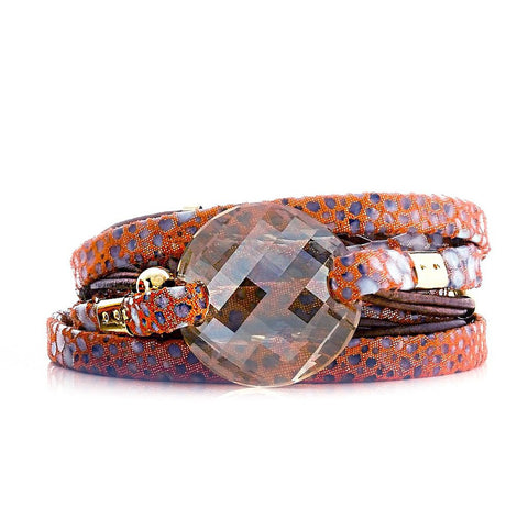 HORIZON DOUBLE WRAP LEATHER BRACELET