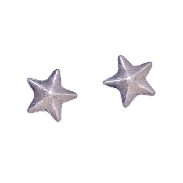 STAR STUD EARRINGS- SILVER