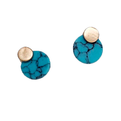 ERIA PAINTED DROP EARRINGS- ROSE GOLD
