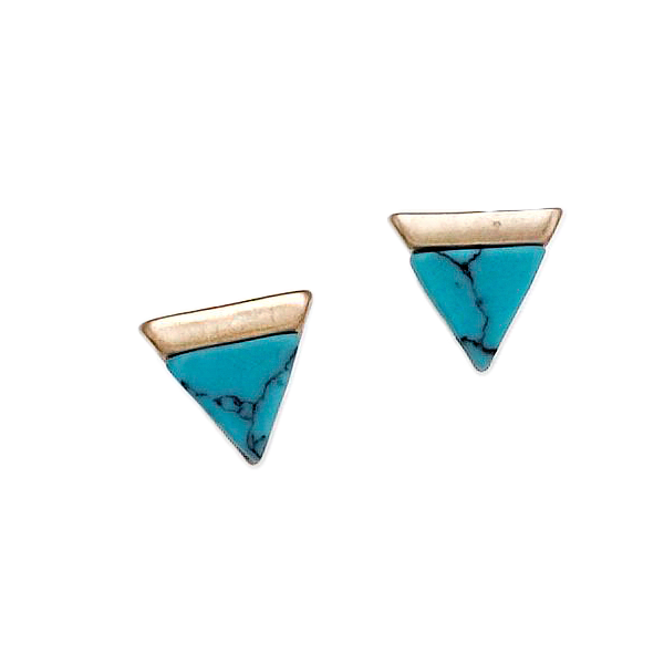 JANA TURQOUISE STUD EARRINGS-TURQUOISE