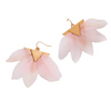 JILL FEATHER DROP EARRINGS- ROSE