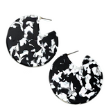 ZARA RESIN DROP EARRINGS- BLACK & WHITE