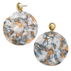 CHIRA RESIN ROUND DROP EARRINGS- MARBEL