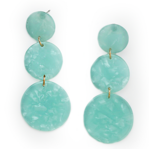 LILA BEADED FRINGE DROP EARRINGS-TURQUOISE