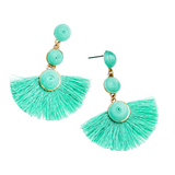 PLAYA BALL DROP EARRINGS- MINT