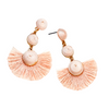 PLAYA BALL DROP EARRINGS - LIGHT PINK