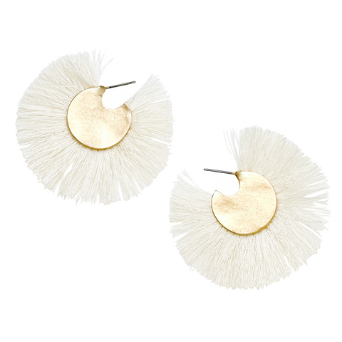 YULI FLORAL DROP EARRINGS- LIGHT PINK