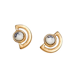 SHILA HOWLITE STUD EARRINGS- WHITE