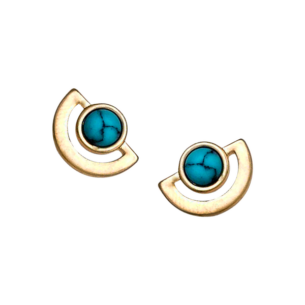 SHILA HOWLITE STUD EARRINGS- TURQUOISE