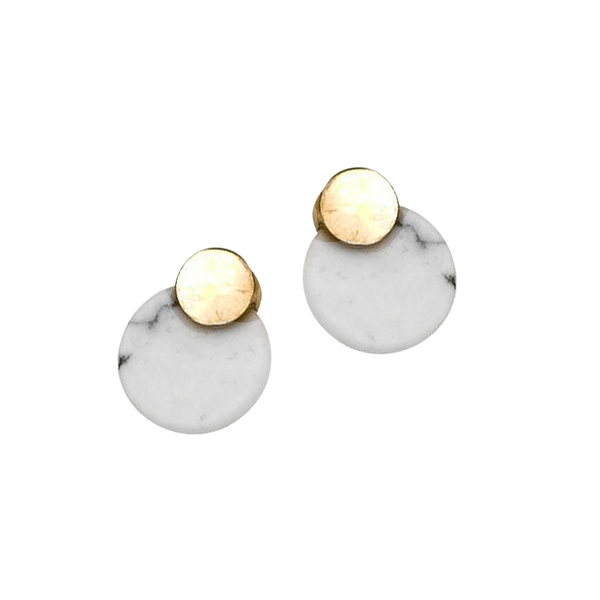 RIRI HOPLITE DROP EARRINGS- WHITE