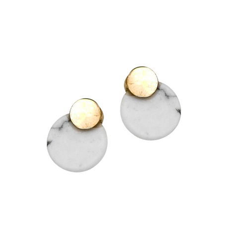 RIRI HOWLITE STUD EARRINGS- TURQUOISE