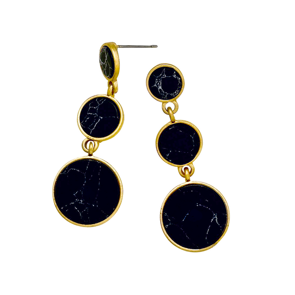 ELIE DROP EARRINGS- BLACK