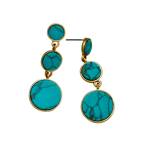 LIV FLORAL BALL DROP EARRINGS