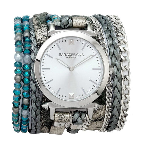 TEAL SUEDE URBAN LITTLE WRAP WATCH