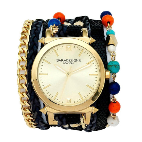 URBAN SPIKE BLUSH WRAP WATCH