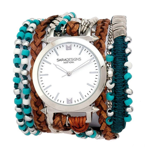 WINE MAASAI WRAP WATCH